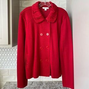 Comdwater Creek Red Sweater